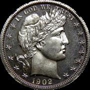1902 Ngc PF66 Barber Half Dollar