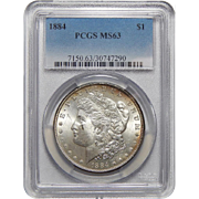 1884 Pcgs MS63 Morgan Dollar