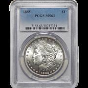 1885 Pcgs MS63 Morgan Dollar