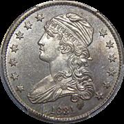1831 Pcgs MS64 Large Letters Capped Bust Quarter