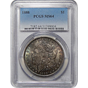1888 Pcgs MS64 Morgan Dollar