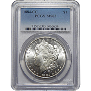 1884-CC Pcgs MS63 Morgan Dollar