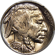 1936-D/S Pcgs MS65 OMM FS-511 (FS-019.8) Buffalo Nickel