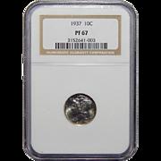 1937 Ngc PF67 Mercury Dime