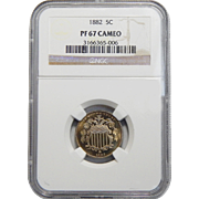 1882 Ngc PR67CAM Shield Nickel
