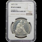 1873 Ngc PF65CAM Liberty Seated Dollar