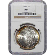 1885 Ngc MS67 Morgan Dollar