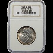 1935-D Ngc MS64 Boone Half Dollar