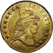 1801 Ngc MS64 $10 Draped Bust Gold