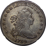 1799 Ngc AU55 Draped Bust Dollar