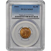 1915 Pcgs MS65 $2.50 Indian Gold