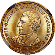 1904 Ngc MS65+ $1 Lewis and Clark Gold