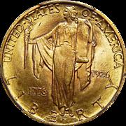 1926 Pcgs MS65 $2.50 Sesquicentennial Gold