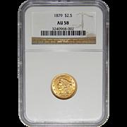 1879 Ngc AU58 $2.50 Liberty Head Gold