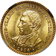 1904 Ngc MS65 $1 Lewis and Clark Gold