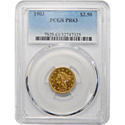 1903 Pcgs PR63 $2.50 Liberty Head Gold