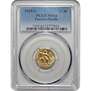 1915-S Pcgs MS64 $2.50 Panama-Pacific Gold