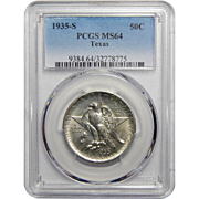 1935-S Pcgs MS64 Texas Half Dollar