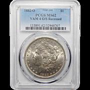 1882-O Pcgs MS62 Top-100 Vam-4 (O/S Recessed) Morgan Dollar
