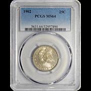 1902 Pcgs MS64 Barber Quarter