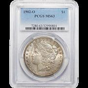1902-O Pcgs MS63 Morgan Dollar
