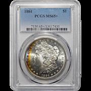 1884 Pcgs MS65+ Morgan Dollar