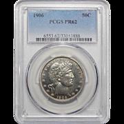 1906 Pcgs PR62 Barber Half Dollar