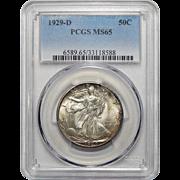 1929-D Pcgs MS65 Walking Liberty Half Dollar