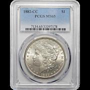 1882-CC Pcgs MS65 Morgan Dollar