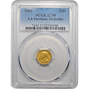 1903 Pcgs AU55 LA Purchase, McKinley One Dollar Gold