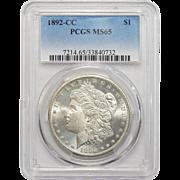 1892-CC Pcgs MS65 Morgan Dollar