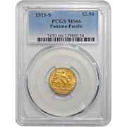 1915-S Pcgs MS66 $2.50 Panama-Pacific Gold