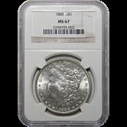 1888 Ngc MS67 Morgan Dollar