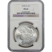 1878-CC Ngc MS66 Morgan Dollar