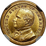 1903 Ngc MS65 $1 Louisiana Purchase, McKinley Gold