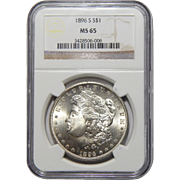 1896-S Ngc MS65 Morgan Dollar