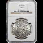 1889-CC Ngc AU55 Morgan Dollar