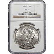 1889-CC Ngc AU55 Morgan Dollar