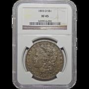 1893-O Ngc XF45 Morgan Dollar