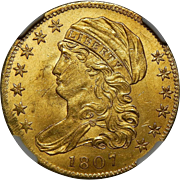 1807 Ngc MS64 $5 Capped Bust Gold - Bust Left