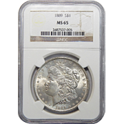 1889 Ngc MS65 Morgan Dollar