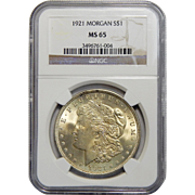 1921 Ngc MS65 Morgan Dollar
