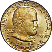 1922 Pcgs MS64 $1 Gold Grant, With Star