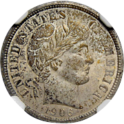 1906 Ngc MS63 Barber Dime