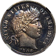 1906 Ngc PF66CAM Barber Dime