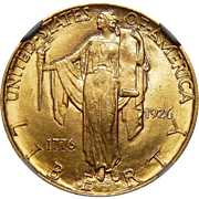 1926 Ngc MS64 $2.50 Sesquicentennial Gold