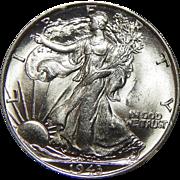 1943 Ngc MS63 Walking Liberty Half Dollar