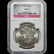 1900-O Ngc MS63 Morgan Dollar