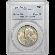 1936 Pcgs MS65 Lynchburg Half Dollar