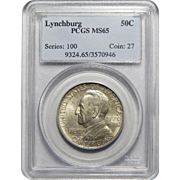 1936 Pcgs MS65 Lynchburg Half Dollar Commemorative